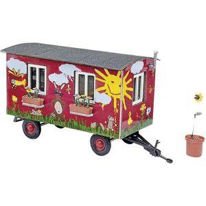 KIT MODÉLISME Busch 59933 H0 Roulotte de jardin, voie H0