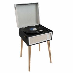 PLATINE VINYLE ClipSonic TES190 Noir  - Tourne-disque sur pieds a
