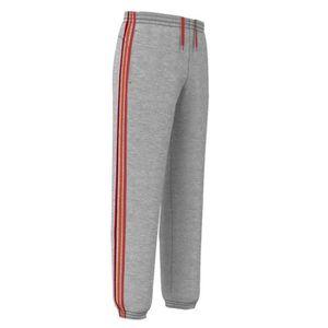 Pantalon ADIDAS Homme Essential 3S Gris Rouge Orange (XL