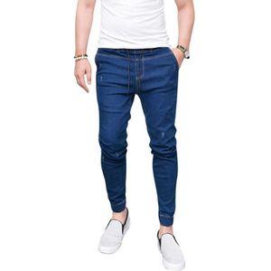 JEANS Homme Jeans Déchiré, Mode Slim Fit Straight Denim
