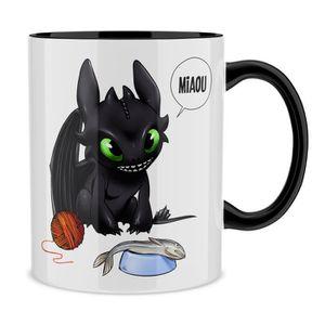 BOL Mug Noir Dragons parodique Krokmou : Après le pois