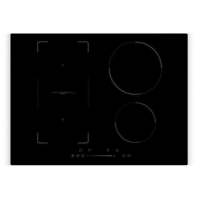 AMSTA - AMTIFZ7000 - Plaque de cuisson induction 70 cm - Slider - 4 Zones - 7000 Watts - Revêtement verre - Noir - Garantie 3 ans