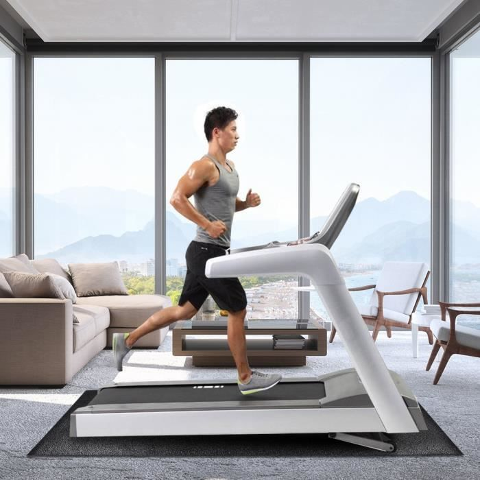Tapis de tapis de course Large Protecteur de plancher Exercise Fitness Tapis d'équipement de gymnastique (grand) -ROS