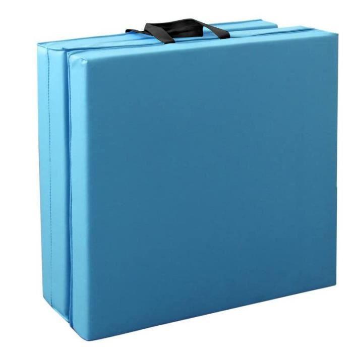 FAN 180cm Tapis de Gymnastique Tapis de Sol Pliable Tapis de Yoga Portable avec Poignées de Transport 3 panneaux
