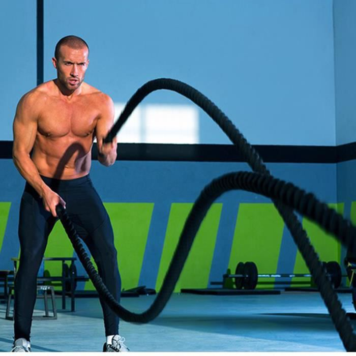 Câble Corde Entraînement Remise En Forme Professionnelle Formation Puissance Exercice Fitness 38mm 12m