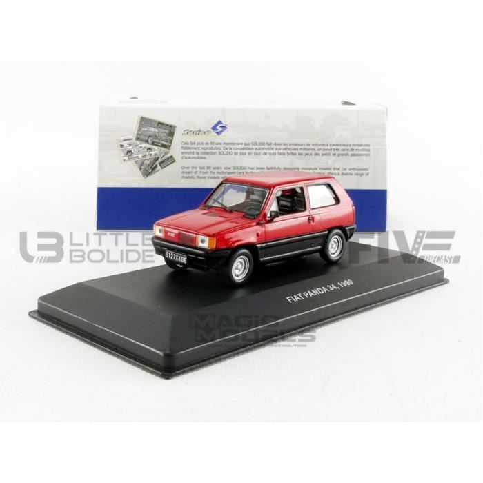 Voiture Miniature de Collection - SOLIDO 1/43 - FIAT Panda - 1990 - Red - 4303100