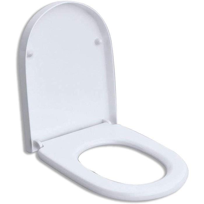 Lunette de WC toilette abattant silencieux/amortisseur pour WC suspendu 376 WCD376