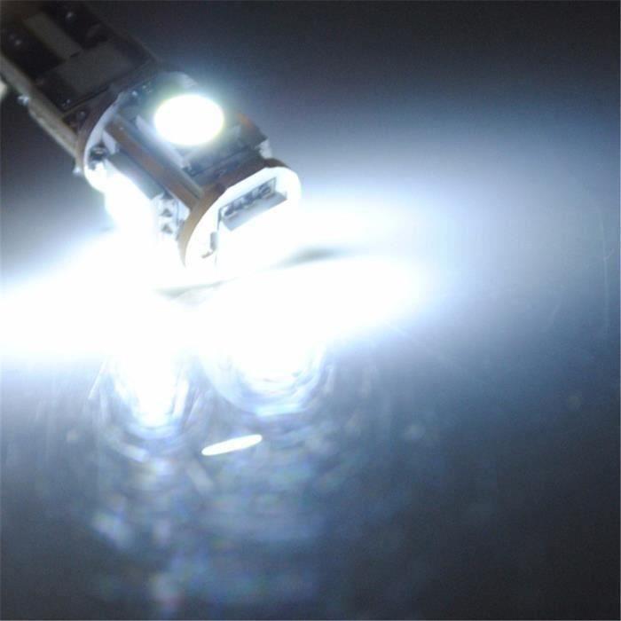 6x AMPOULE 5 LED SMD W5W T10 BLANC XENON ANTI SANS ERREUR ODB Veilleuse 6000K ma61826