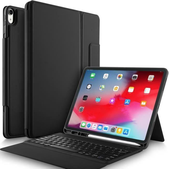 Apple Ipad pro 12.9 2018 Clavier, QWERTY Bluetooth Keyboard pour Ipad pro 12.9 2018 Slim Clavier housse, Noir My23927