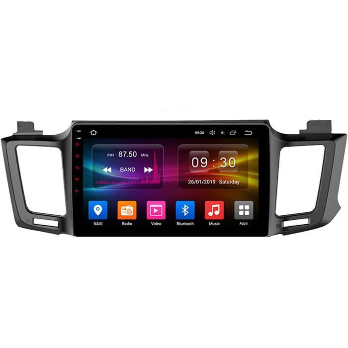 Autoradio Récepteur Multimédia Car Radio voiture Stéréo 9 Pouces Pour Toyota RAV4 4 XA40 5 XA50 2012-2018 Autoradio Bluetooth [203]