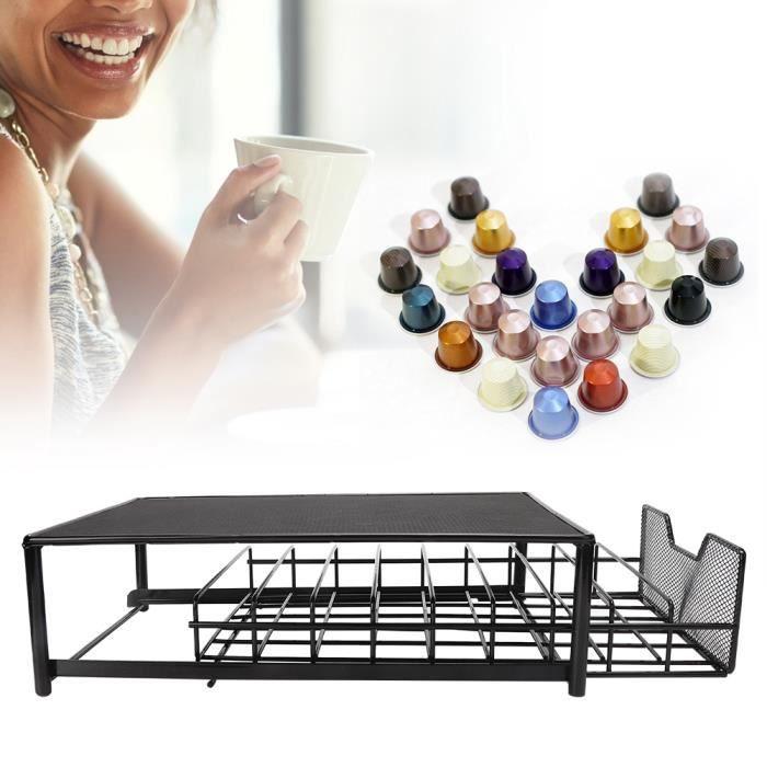 YOSOO Organisateur de stockage de café Support de tiroir de support de stockage de support de capsule de café de ménage 54PCS