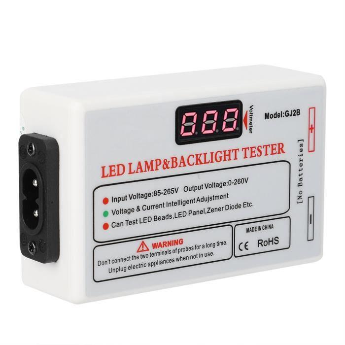 Ashata Testeur LED TV 0-260V testeur de LED multifonctionnel testeur de rétroéclairage TV outil de test de maintenance 220V prise