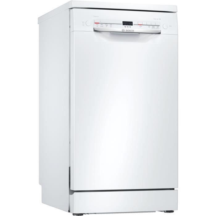 Lave-vaisselle pose libre BOSCH SRS2IKW04E Série 2 - 9 couverts - Moteur induction - L45cm - 48 dB - Blanc