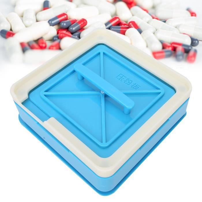 Trous Capsules Outil De Remplissage Vide Capsule Plaques Capsule Machine De Remplissage (1 #bleu) HB018 -QNQ