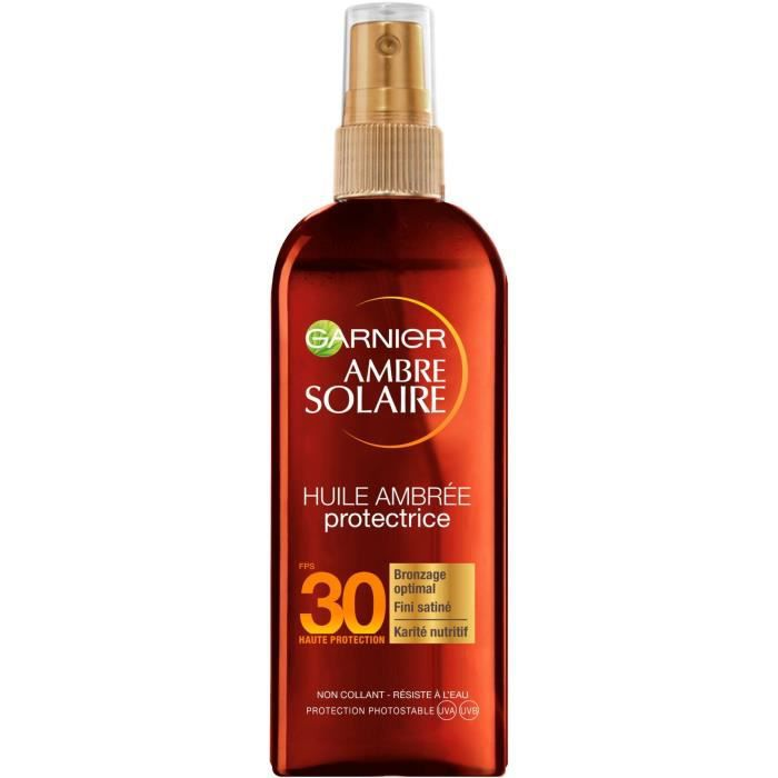 GARNIER Ambre Solaire Spray Huile Protectrice - FPS 30 - 150 ml