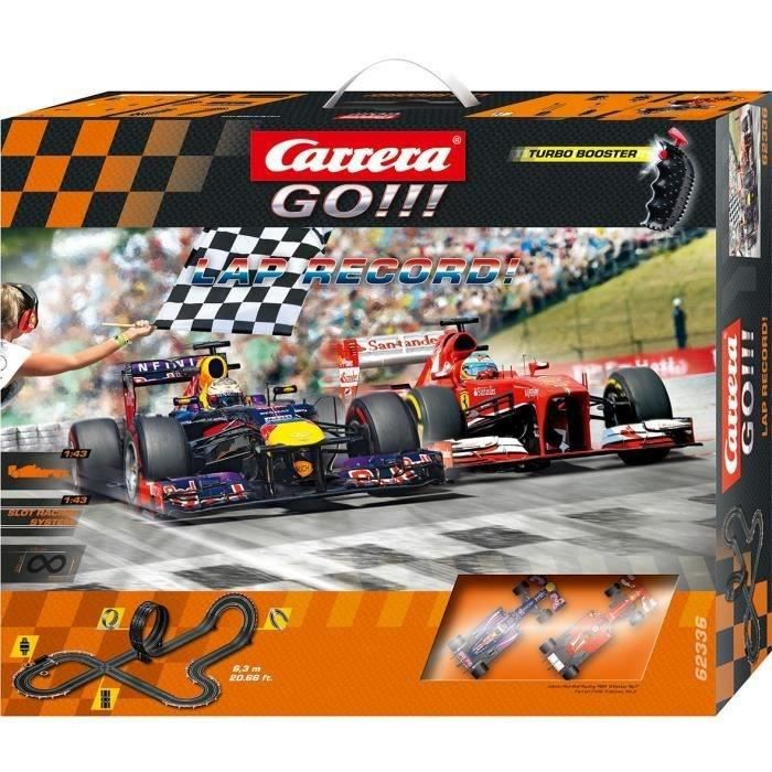 CARRERA GO ! Circuit électrique 2 Voitures Formule 1 Lap Record 1/43 eme 6.30m environ