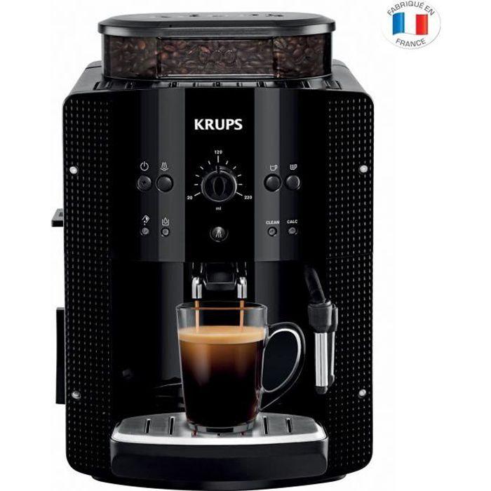 KRUPS YY8125FD Machine à café automatique avec broyeur à grains Essential - Pression 15 Bars - Noire