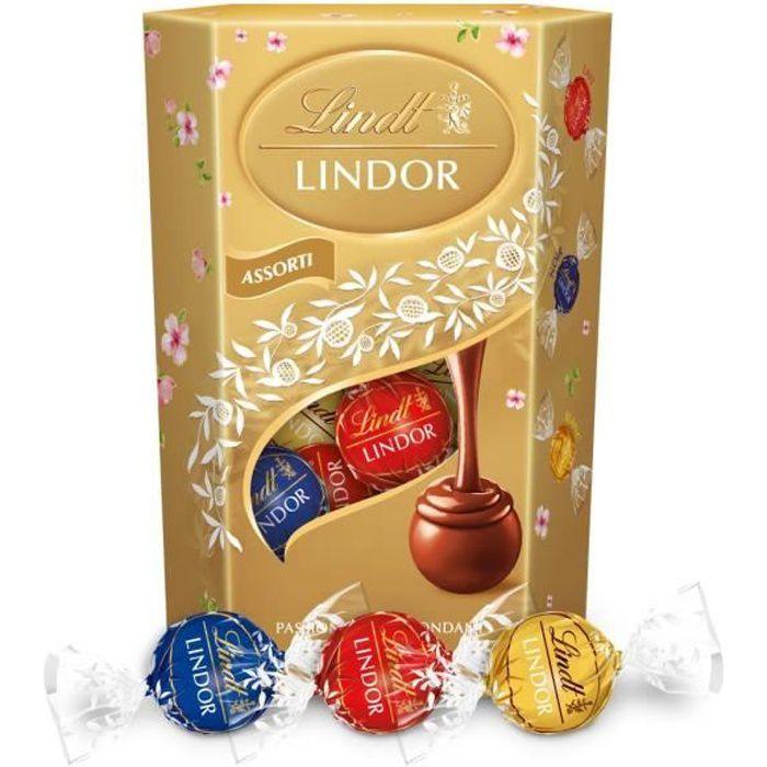 Chocolat Lindt Lindor Assorti Cornet 200g - DDM au 31/08/2021
