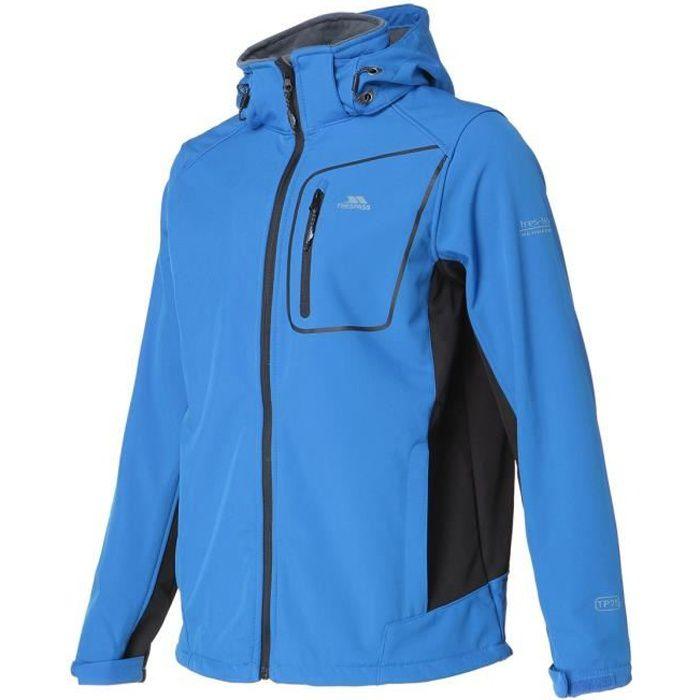 TRESPASS Veste Softshell Strathy II TP75 Homme - Bleu