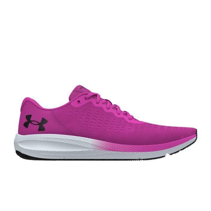 Chaussures de running de running femme Under Armour Charged Pursuit 2 SE - rose/noir/gris chiné - 38