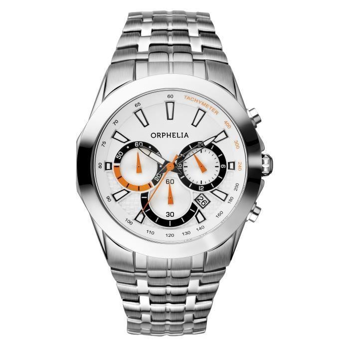 ORPHELIA - Montre Homme - Quartz Chronographe - Bracelet Acier inoxydable Argent - 153-7901-88