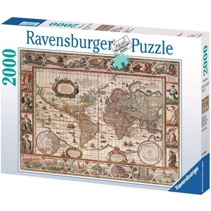 Puzzle 2000 pièces - Mappemonde 1650 - Ravensburger - Puzzle adultes - Dès 14 ans