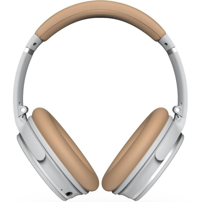 R-MUSIC KOL Casque Bluetooth à réduction de bruit active - 10h d'autonomie - Gris