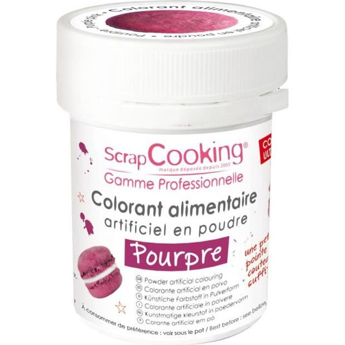 Colorant alimentaire (artificiel) - Pourpre - Scrapcooking