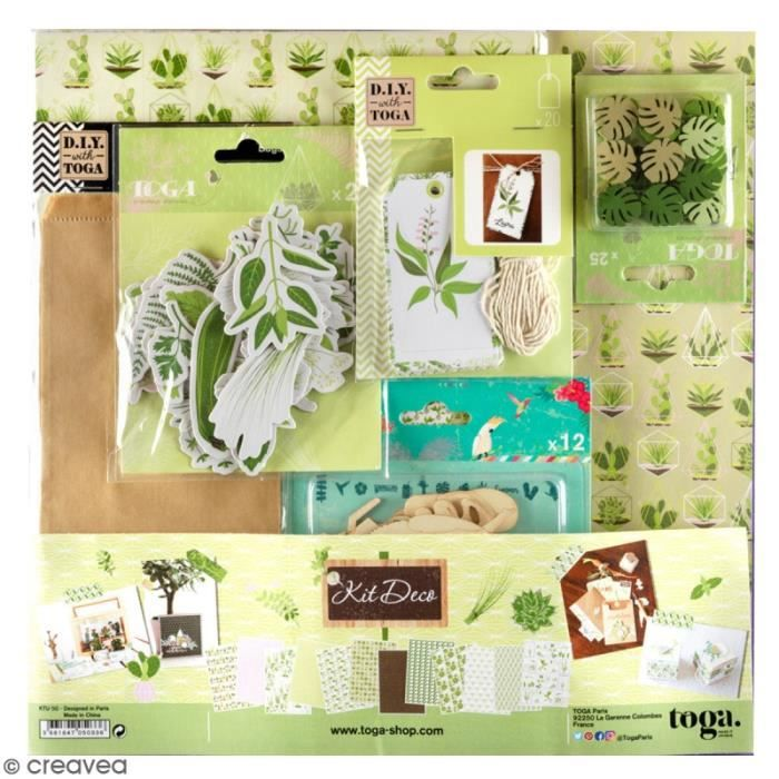 Kit déco Scrapbooking Toga - Oh my green