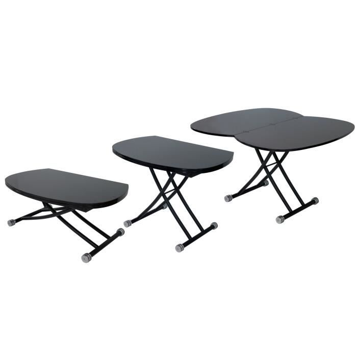 Table basse design relevable laqu e noir stal achat - Table relevable design ...