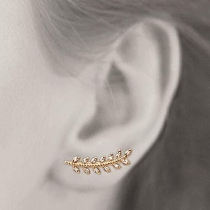 boucle d'oreille femme lobe