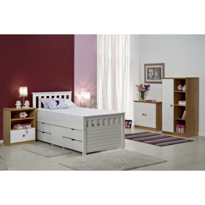 Chambre compl te blanche jill meuble house achat for Achat chambre complete
