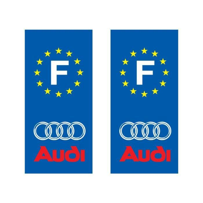 sticker pour plaque d 39 immatriculation audi achat vente d coration v hicule stickers. Black Bedroom Furniture Sets. Home Design Ideas