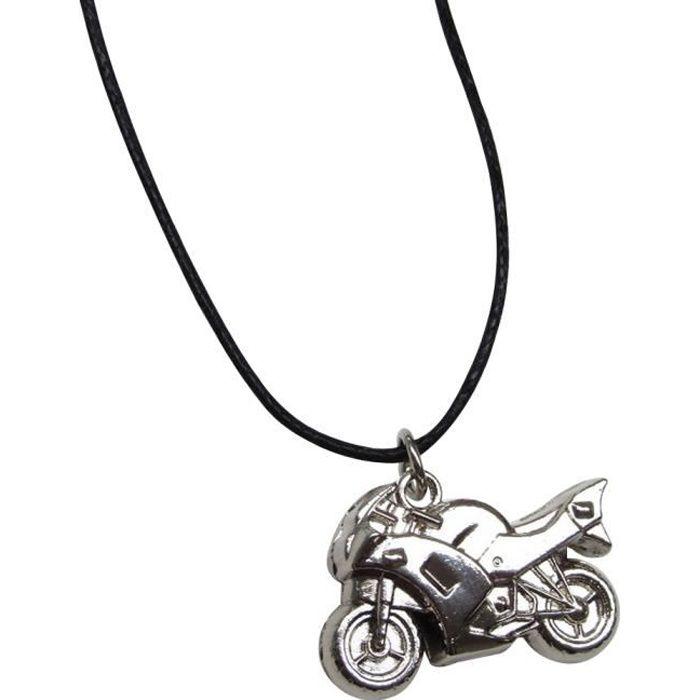 collier moto femme
