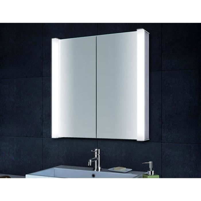 armoire de toilette avec clairage led et le cadre en. Black Bedroom Furniture Sets. Home Design Ideas