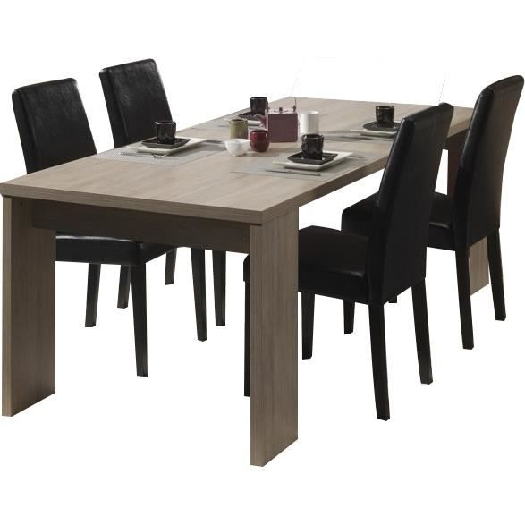 table salle manger 200 cm contemporain coloris ch ne rustique achat vente table manger. Black Bedroom Furniture Sets. Home Design Ideas
