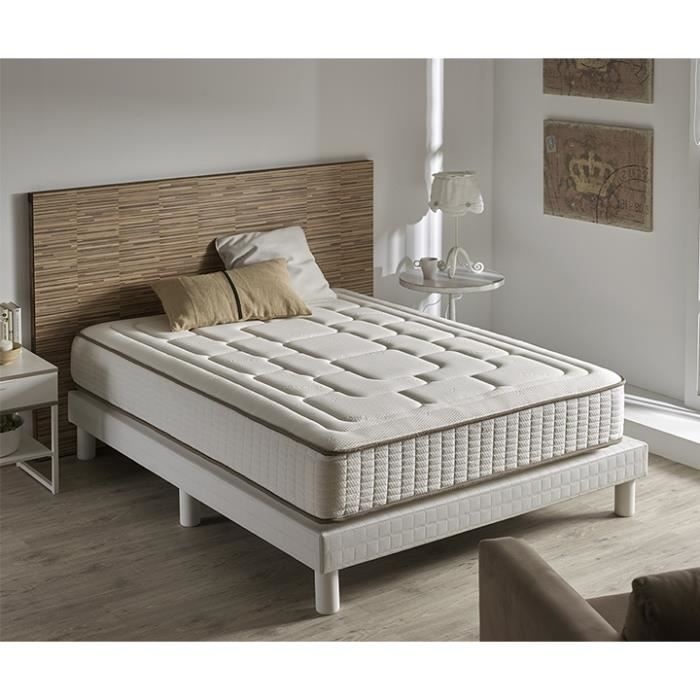 matelas confort 160x200 en cachemire et visco lastique. Black Bedroom Furniture Sets. Home Design Ideas
