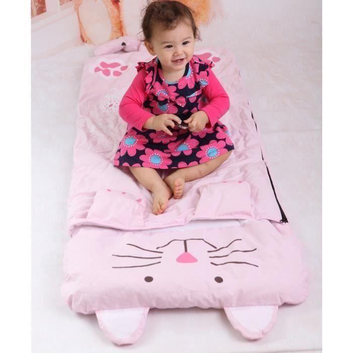 SAC DE COUCHAGE Sac de couchage pour enfants avec oreiller 140 x 6