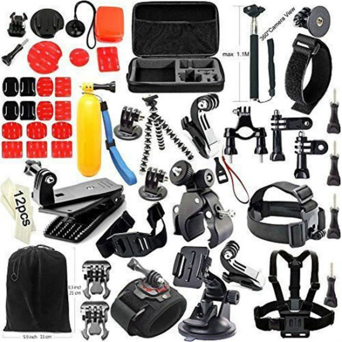 40 in 1 kit d 39 accessoires bundle pour gopro hero 4 3 3 2 1 cam ra achat vente pack. Black Bedroom Furniture Sets. Home Design Ideas