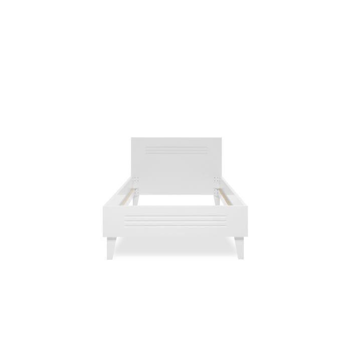 STRUCTURE DE LIT FACTORY Lit enfant industriel - Blanc - l 90 x L 1