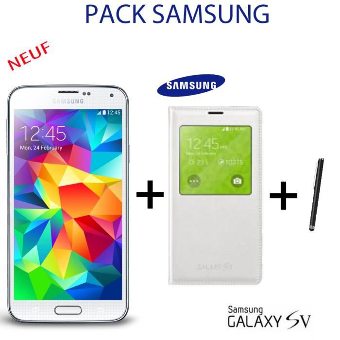 samsung galaxy s5 gsm neuf etui stylet achat. Black Bedroom Furniture Sets. Home Design Ideas