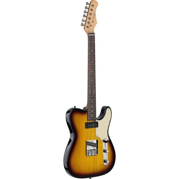STAGG SET-CST BS Guitare Electrique Vintage - Dégradé Brun