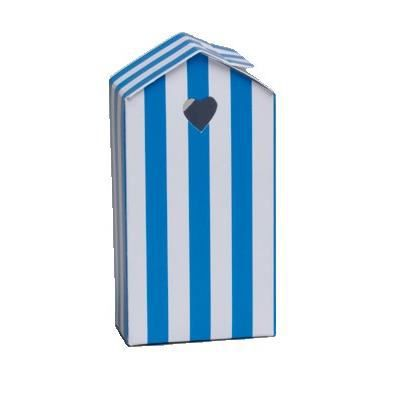 mini ballotin cabine de plage bleue et blanche achat. Black Bedroom Furniture Sets. Home Design Ideas