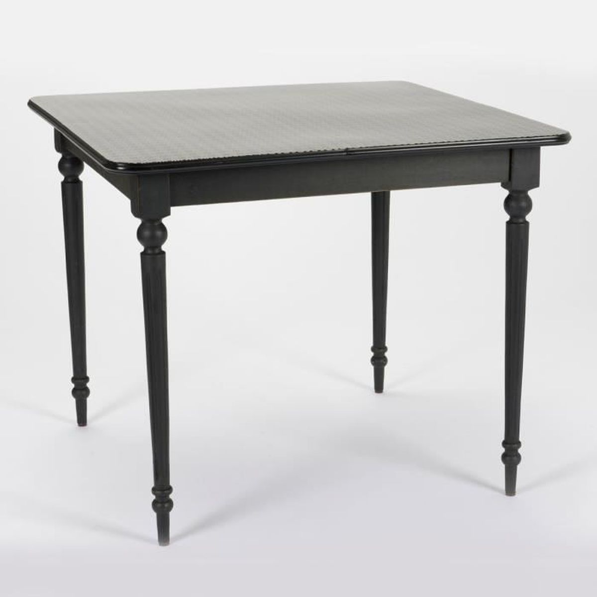 Table manger carr e bistro noir achat vente table for Table a manger noir