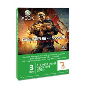CARTE PRÉPAYÉE XBOX LIVE GOLD 3M + 1 M GEARS OF WAR JUDGMENT
