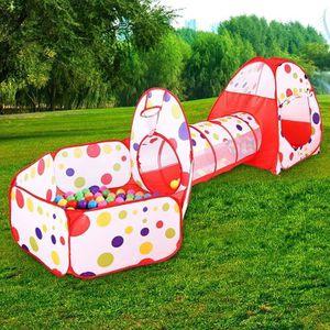PISCINE À BALLES Tente de Jeu en 3 Pièce Piscine à Boules avec Tunn