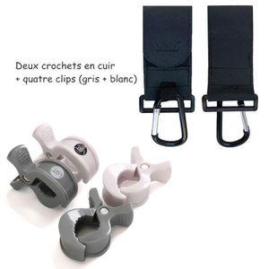 CROCHETS LAT Crochets et clip pour poussette en cuir - Acce