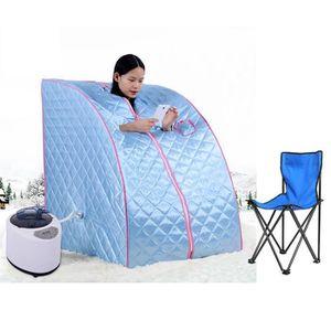 argent/é rose Cabine de sauna vapeur sauna portable pliable spa personnel Hammam 900 W 50/°C max