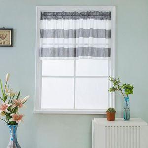 RIDEAU Valance Rideaux extra-large et courte fenêtre Trai