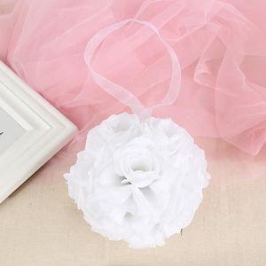 FLEUR ARTIFICIELLE Blanc  Bouquet de mariage boule de rose fleur arti